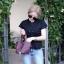 กระเป๋าสะพายแฟชั่น กระเป๋าสะพายข้างผู้หญิง PICOTIN 19 Inch [สีม่วง] thumbnail 2