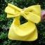 กระเป๋าครัช กระเป๋าถือ Big Bow [สีเหลือง] thumbnail 2