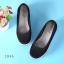 พร้อมส่ง รองเท้าผ้าใบเสริมส้นสีดำ ผ้าลูกไม้ พื้นสุขภาพ แฟชั่นเกาหลี [สีดำ ] thumbnail 3
