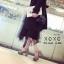 พร้อมส่ง รองเท้าส้นตันรัดส้นสีแอปริคอท ผ้าสักหราด แมทส์กับชุดได้ง่าย แฟชั่นเกาหลี [สีแอปริคอท ] thumbnail 4