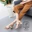 พร้อมส่ง รองเท้าส้นตันเปิดส้นสีครีม สายคาด2ระดับ แต่งเข็มขัดโลหะ แฟชั่นเกาหลี [สีครีม ] thumbnail 1