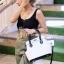 กระเป๋าสะพายแฟชั่น กระเป๋าสะพายข้างผู้หญิง The BOX 24 CM B&W [สีขาว] thumbnail 2