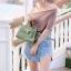 กระเป๋าสะพายแฟชั่น กระเป๋าสะพายข้างผู้หญิง Mini Kelly Pu [สีเขียว] thumbnail 2
