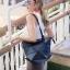 กระเป๋าสะพายแฟชั่น กระเป๋าสะพายข้างผู้หญิง pyramid [สีดำ] thumbnail 3