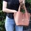 กระเป๋าสะพายแฟชั่น กระเป๋าสะพายข้างผู้หญิง Picotin size L [สีดำ] thumbnail 3