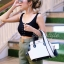กระเป๋าสะพายแฟชั่น กระเป๋าสะพายข้างผู้หญิง The BOX 24 CM B&W [สีขาว]