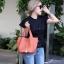 กระเป๋าสะพายแฟชั่น กระเป๋าสะพายข้างผู้หญิง Picotin size L [สีส้ม]
