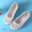 พร้อมส่ง รองเท้าผ้าใบเสริมส้นสีครีม ผ้าลูกไม้ พื้นสุขภาพ แฟชั่นเกาหลี [สีครีม ] thumbnail 6
