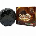 สบู่ใยบวบ สครับกาแฟ+ทานาคา+วิตามินอี (100 กรัม)ตราลูกหมี ดีท็อกผิว ขัดผิวขาว ลดเซลลูไลท์ มีเม็ดกาแฟ และใยบวบอยู่ภายในก้อนสบู่
