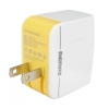 หัวชาร์จ หัวปลั๊ก 2 USB Remax แท้ 3.1A สีขาว ราคา 290 บาท