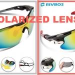 แว่นตากันแดด RIVBOS โพลาไรส์เลนส์/แบบเปลี่ยนเลนส์ได้ 5 เลนส์ (ฟรี! ค่าจัดส่งแบบ EMS)