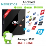 H96 Pro+ Android TV Box AmlogicS912 Octa Core CPU 3G RAM 32G ROM Android 6.0