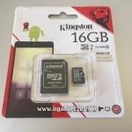 การ์ด Micro SD เมมโมรี่ การ์ด 16GB-Class 10 Kingstons แท้ 100% ลดราคา เหลือ 390 บาท