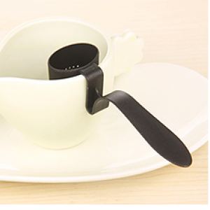 เครื่องกรองชาในแก้ว(สีดำ)