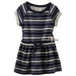 1269 OshKosh Striped Dress - Navy Blue ขนาด 5, 6 ปี