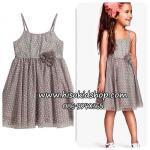 1089 H&M Tiulle Dress - Grey ขนาด 4-6 ปี