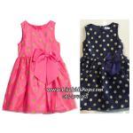 1106 H&M Jersey Dress - Pink/Navy Blue ขนาด 2-4,4-6 ปี