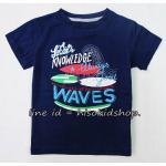 1779 Basic Boy T-Shirt - Navy Blue ขนาด 5-6,7-8 ปี