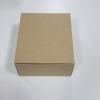 กล่องสแน็ค กล่องอาหารว่าง Snack Box กล่องคอฟฟี่เบรค กล่องคัพเค้ก แบบไม่มีหน้าต่าง คราฟท์หน้าขาวหลังน้ำตาล ขนาด 15.0x15.0x7.6 ซม.