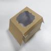 กล่องสแน็ค กล่องอาหารว่าง Snack Box กล่องคอฟฟี่เบรค กล่องคัพเค้ก แบบมีหน้าต่าง สีคราฟท์ ขนาด 15.0 x 15.0 x 7.6 ซม.