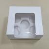 กล่องคัพเค้ก 5 ชิ้น ทรงหน้าต่างวีเชฟ 20.0x16.0x8.2ซม.กล่องเค้ก กล่องคัพเค้ก สีขาว พร้อมฐานรองคัพเค้ก (ช่องใส่คัพเค้กกว้าง 6.4ซม.) 20ใบ/แพ็ค