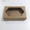 กล่องทาร์ตไข่ กล่องบราวนี่ กล่องชิฟฟ่อน กล่องช๊อกโกแลต กล่องพาย กล่องขนมเปี๊ยะ ลายคราฟท์น้ำตาล กว้าง 26.0 x ยาว 14.0 x สูง 4.0 ซม.