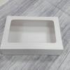 กล่องทาร์ตไข่ กล่องบราวนี่ กล่องชิฟฟ่อน กว้าง 26.0 x ยาว 16.5 x สูง 5.0 ซม.กล่องช๊อกโกแลต กล่องพาย กล่องขนมเปี๊ยะ สีขาว