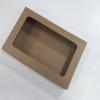 กล่องทาร์ตไข่ กล่องบราวนี่ กล่องชิฟฟ่อน กว้าง 26.0 x ยาว 16.5 x สูง 5.0 ซม.กล่องช๊อกโกแลต กล่องพาย กล่องขนมเปี๊ยะ ลายคราฟท์น้ำตาล