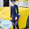 ชุดว่ายน้ำเด็ก บอดี้สูทแขนยาวขายาว ซิปหน้า ใส่ได้ทั้ง ดช.และดญ. มีสีน้ำเงินเข้ม / สีชมพู