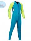 ชุดว่ายน้ำเด็กควบคุมอุณหภูมิแขนยาว ขายาว ป้องกันความหนาว /ป้องกัน UV ผลิตจากผ้า Neoprene หนา 2 mm. มี 2 สี---> สีฟ้า/สีชมพู