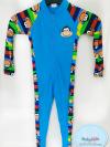 ชุดว่ายน้ำเด็กชาย bodysuit แขนยาวซิปหน้า ลาย Monkey พร้อมหมวกเข้าชุด