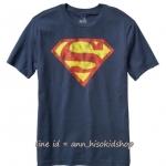 1943 GAP KIDS SUPERMAN TEE - NAVY BLUE ขนาด 8-9 ปี (ส่งฟรี ลทบ.)