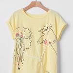 2036 GAP KIDS Short Sleeve Graphic T-Shirt - Yellow ขนาด 10 ,14-16 ปี