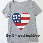 2048 GAP KIDS Short Sleeve Graphic T-Shirt - Grey ขนาด 8-9,13 ปี