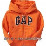 1915 Gap Kids Arch logo Hoodie - Orange ขนาด 8-9,10-11 ปี (ส่งฟรี ลทบ.)