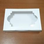 กล่องทาร์ตไข่ กล่องบราวนี่ กล่องชิฟฟ่อน กล่องช๊อกโกแลต กล่องพาย กล่องขนมเปี๊ยะ สีขาว กว้าง 26.0 x ยาว 14.0 x สูง 4.0 ซม.