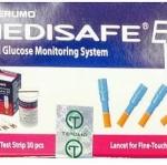 ชุดแผ่นตรวจและเข็มเจาะ terumo medisafe EX