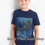 1884 Gap Kids Short Sleeve Tee - Navy Blue ขนาด 10,12,14-16 ปี