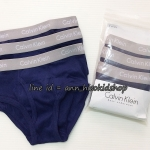 1989 Calvin Klein Boys' underwear กางเกงในเด็กชายสีกรม ขอบเทา 1 แพคมี 3 ตัวค่ะ ขนาด 6-7,8-10,12-14 ปี