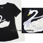 2044 Cat Jack Short Sleeve T-Shirt - Black ขนาด 10-12 ปี