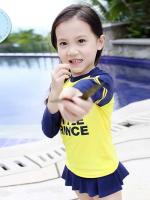 ชุดว่ายน้ำเด็กหญิง The Little Prince สีเหลือง-น้ำเงินเข้ม