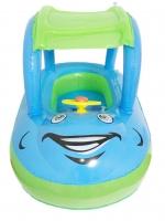 ห่วงยางเล่นน้ำเด็กรูปรถ พร้อมหลังคาป้องกันแสงแดด ยี่ห้อ ABC สีฟ้าเขียว
