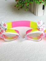 แว่นตาว่ายน้ำเด็ก คิตตี้ สีชมพู ตัวสายปรับได้