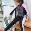 ชุดว่ายน้ำเด็กหญิง แขนยาว ขายาว สีชมพูอ่อน-ดำ (เสื้อซิปหน้า) thumbnail 2