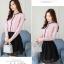 Pre-order เสื้อทำงาน สีชมพู คอระบายสวยหวาน แต่งมุกเรียงด้านหน้าไม่ซ้ำใคร thumbnail 4