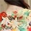 Preorder เสื้อทำงาน สีสันสดใส คอกลมแขนแต่งระบายเฉียง วีช่วงอกเก๋ๆ เนื้อผ้าพิม์ลายดอกไม้สวยหวาน thumbnail 7