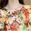 Preorder เสื้อทำงาน สีสันสดใส คอกลมแขนแต่งระบายเฉียง วีช่วงอกเก๋ๆ เนื้อผ้าพิม์ลายดอกไม้สวยหวาน thumbnail 6
