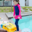 ชุดว่ายน้ำเด็กผู้หญิง แขนยาว ขายาว แยกส่วนเสื้อ กางเกง สีชมพู น้ำเงินเข้ม thumbnail 2