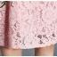 Preorder ชุดทำงาน สีชมพู คอกลมแขนห้าส่วน คาดเอวเก๋ไก๋ เนื้อผ้าลูกไม้ปักลายดอกไม้สวยหวาน thumbnail 9