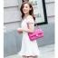 Pre-order กระเป๋าหนังแท้ สีชมพู เนื้อนิ่ม เรียบหรู thumbnail 2